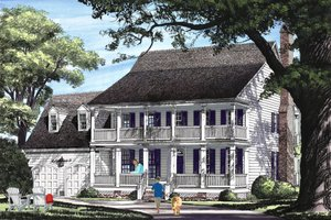 Southern Exterior - Front Elevation Plan #137-275