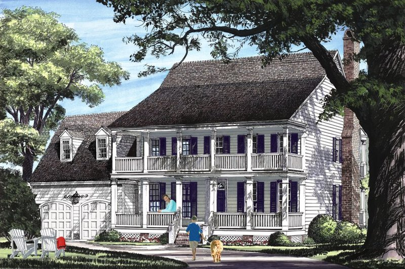 House Plan Design - Southern Exterior - Front Elevation Plan #137-275