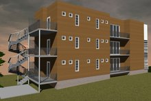 Contemporary Exterior - Other Elevation Plan #535-19