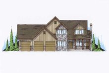 Dream House Plan - Country Exterior - Front Elevation Plan #5-385