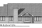 Traditional Style House Plan - 3 Beds 2 Baths 1603 Sq/Ft Plan #70-156 Exterior - Rear Elevation