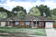 Traditional Style House Plan - 2 Beds 1 Baths 852 Sq/Ft Plan #17-2403 Exterior - Front Elevation