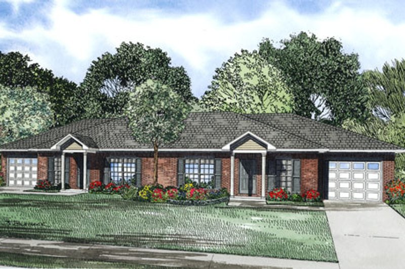 Dream House Plan - Traditional Exterior - Front Elevation Plan #17-2403