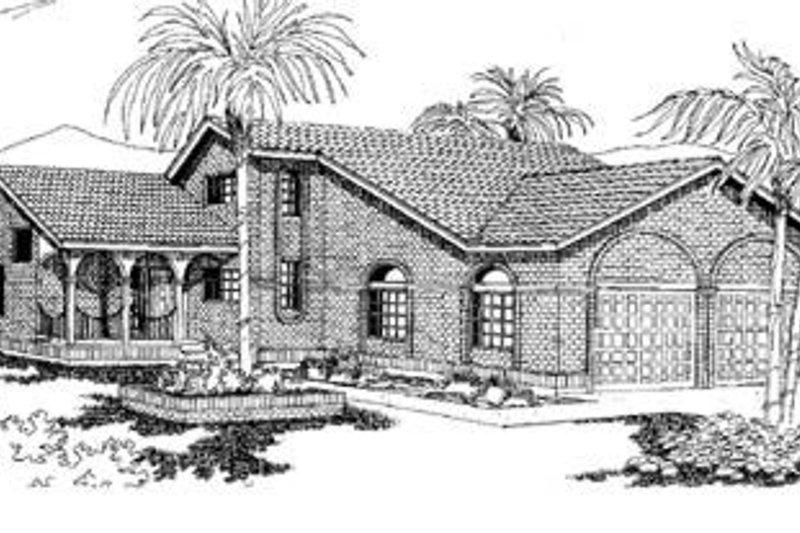 Dream House Plan - European Exterior - Front Elevation Plan #60-212