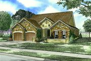 European Style House Plan - 3 Beds 2 Baths 1943 Sq/Ft Plan #17-110 Exterior - Front Elevation