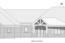Country Exterior - Front Elevation Plan #932-294
