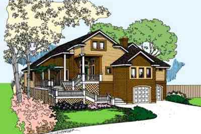 Exterior - Front Elevation Plan #60-625