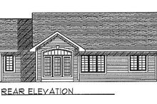 Traditional Exterior - Rear Elevation Plan #70-125