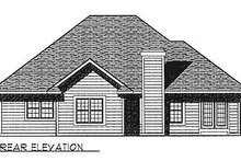 Dream House Plan - Traditional Exterior - Rear Elevation Plan #70-240