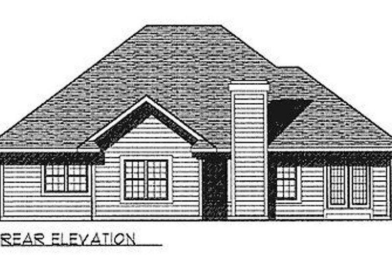 Traditional Exterior - Rear Elevation Plan #70-240 - Houseplans.com
