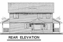 House Blueprint - Country Exterior - Rear Elevation Plan #18-278