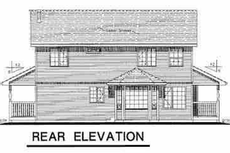 Country Exterior - Rear Elevation Plan #18-278 - Houseplans.com