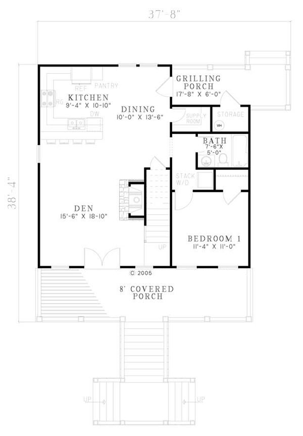 Country Floor Plan - Main Floor Plan Plan #17-2304
