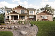 Craftsman Style House Plan - 4 Beds 3.5 Baths 3315 Sq/Ft Plan #51-367 Exterior - Front Elevation
