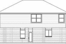 House Plan Design - Traditional Exterior - Rear Elevation Plan #84-123