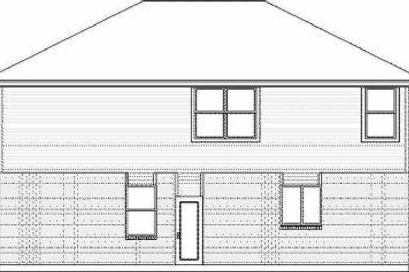 Traditional Exterior - Rear Elevation Plan #84-123 - Houseplans.com