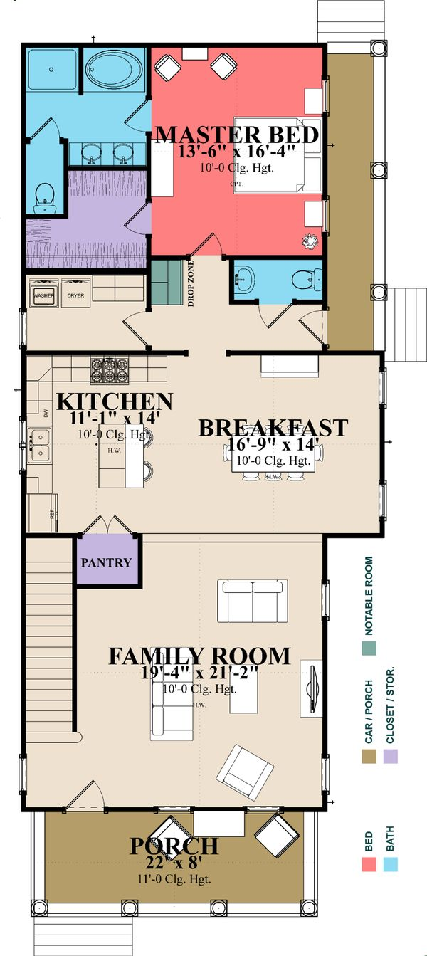 Farmhouse Floor Plan - Main Floor Plan Plan #63-377