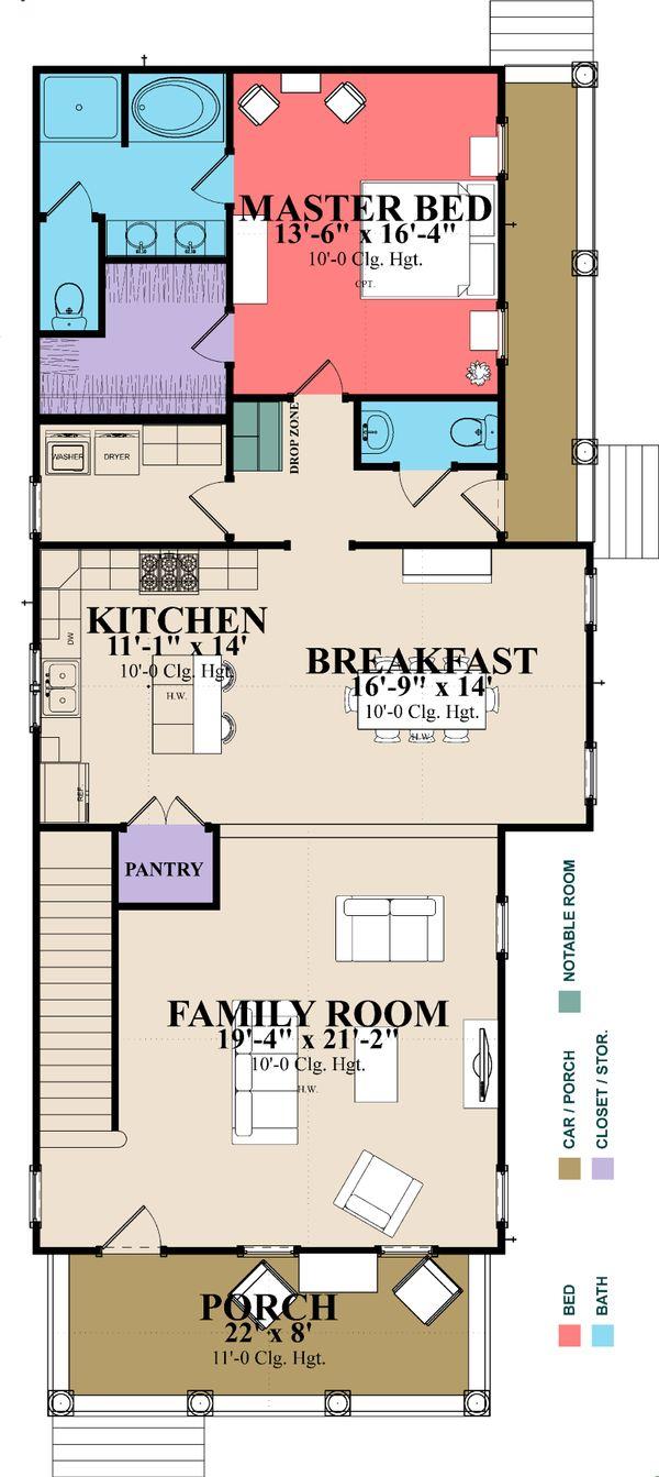 House Plan Design - Farmhouse Floor Plan - Main Floor Plan #63-377