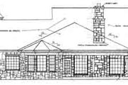 Country Style House Plan - 4 Beds 2.5 Baths 2342 Sq/Ft Plan #310-231 Exterior - Rear Elevation