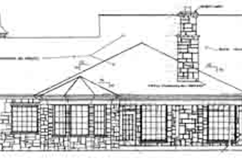 Country Exterior - Rear Elevation Plan #310-231 - Houseplans.com