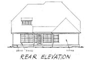 Traditional Style House Plan - 4 Beds 2.5 Baths 2755 Sq/Ft Plan #20-178 Exterior - Rear Elevation