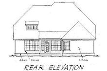 Home Plan - Traditional Exterior - Rear Elevation Plan #20-178