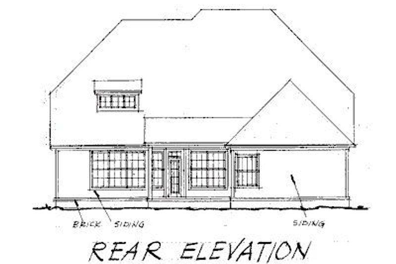 Traditional Exterior - Rear Elevation Plan #20-178 - Houseplans.com