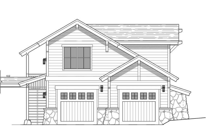 Craftsman Style House Plan - 1 Beds 1 Baths 605 Sq/Ft Plan #899-4