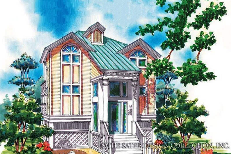 Country Exterior - Front Elevation Plan #930-69