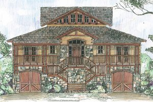 Country Exterior - Front Elevation Plan #426-17