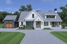 Cottage Exterior - Front Elevation Plan #1070-61