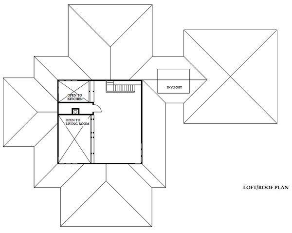 Prairie Floor Plan - Upper Floor Plan Plan #454-11