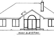 Traditional Style House Plan - 3 Beds 2 Baths 1704 Sq/Ft Plan #52-102 Exterior - Rear Elevation