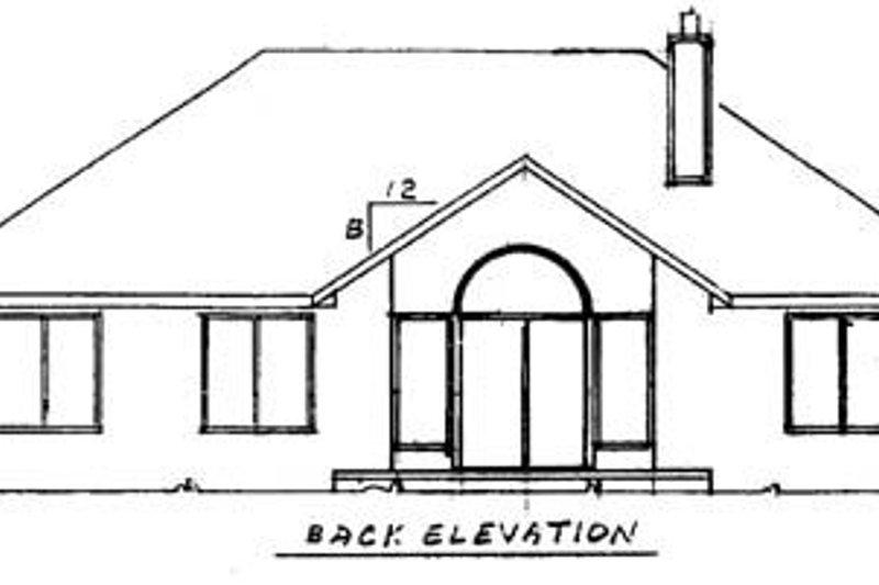 Traditional Exterior - Rear Elevation Plan #52-102 - Houseplans.com