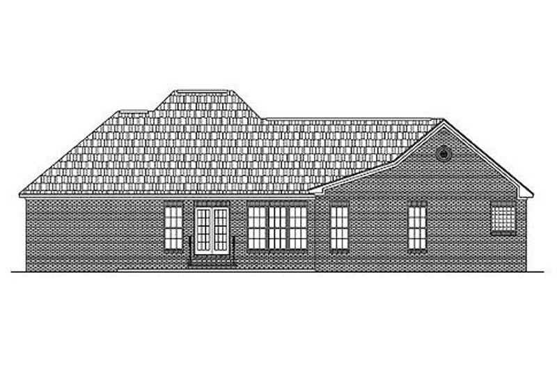 Traditional Exterior - Rear Elevation Plan #430-16 - Houseplans.com