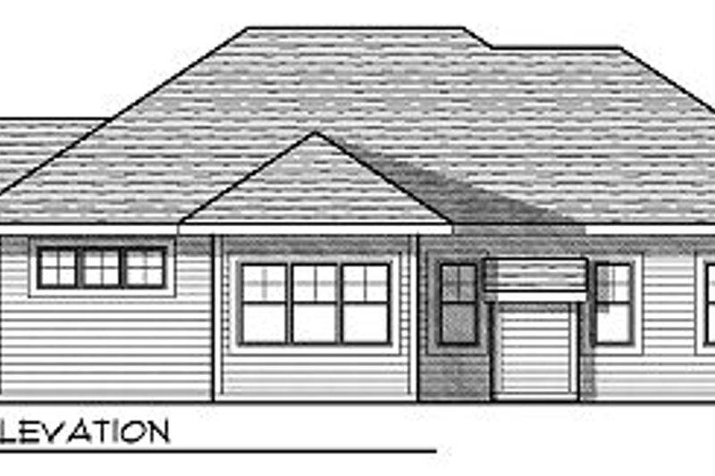 Traditional Exterior - Rear Elevation Plan #70-863 - Houseplans.com