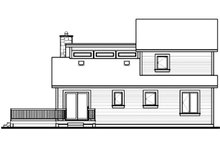 Modern Exterior - Rear Elevation Plan #23-2019