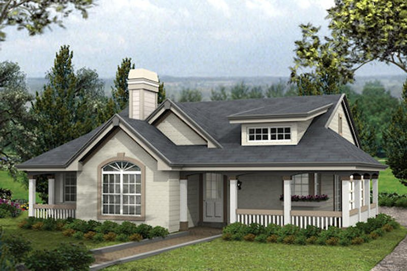 Country Exterior - Front Elevation Plan #57-338 - Houseplans.com