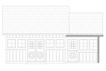 Cabin Exterior - Front Elevation Plan #932-219