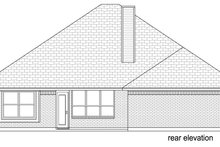 Home Plan - Traditional Exterior - Rear Elevation Plan #84-579