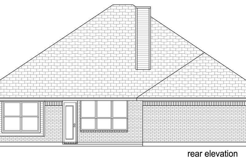 Traditional Exterior - Rear Elevation Plan #84-579 - Houseplans.com