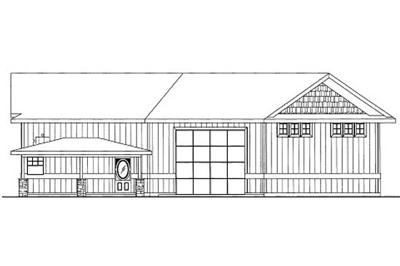 Bungalow Exterior - Front Elevation Plan #117-681