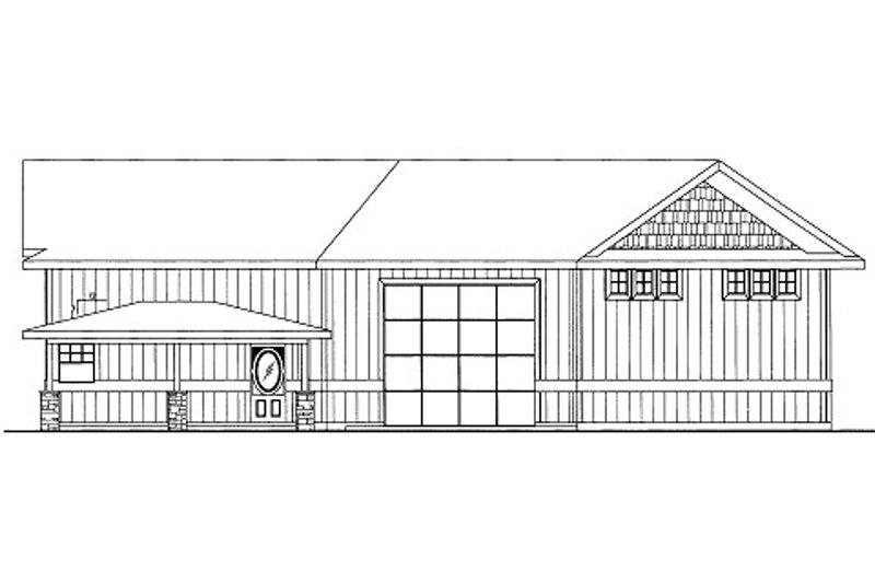 Bungalow Style House Plan - 1 Beds 1 Baths 798 Sq/Ft Plan #117-681 Exterior - Front Elevation