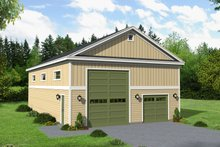 Country Exterior - Front Elevation Plan #932-260
