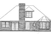Traditional Style House Plan - 4 Beds 2 Baths 1552 Sq/Ft Plan #310-154 Exterior - Rear Elevation