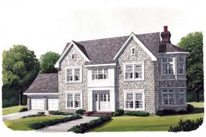 Victorian Exterior - Front Elevation Plan #410-361