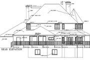 Farmhouse Style House Plan - 5 Beds 3 Baths 2818 Sq/Ft Plan #1-692 Exterior - Rear Elevation