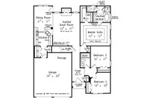 Traditional Floor Plan - Main Floor Plan Plan #927-35