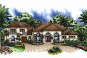 European Style House Plan - 5 Beds 4.5 Baths 4203 Sq/Ft Plan #27-426 Exterior - Front Elevation