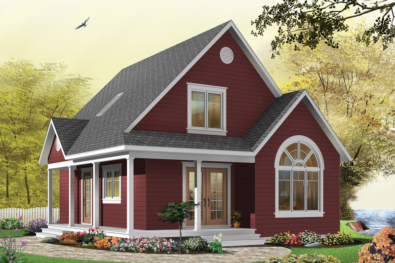 Canadian cottage home traditional house elevation